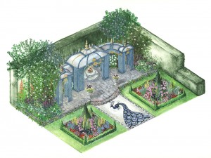 1007 COMMISSION The Victorian Aviary Garden