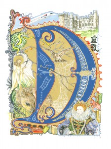 1206 COMMISSION: 'Illuminated Letter Gothic D'