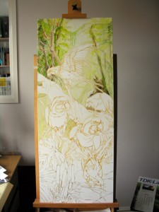 1501 Progress: Blue and Gold Macaws 6