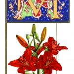 A Red Lily picture was also in the design (0813)