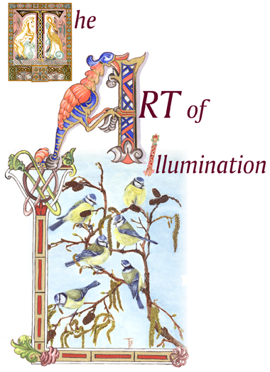 Front cover of Calendar showing illumination artwork