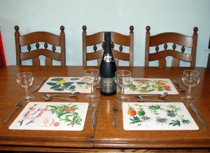 Large Place Mats, 4 Designs: Fine Fruits Range. Traditional cork-backed placemats.