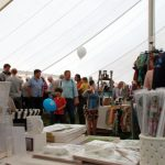 It was hot and busy in the Marquee